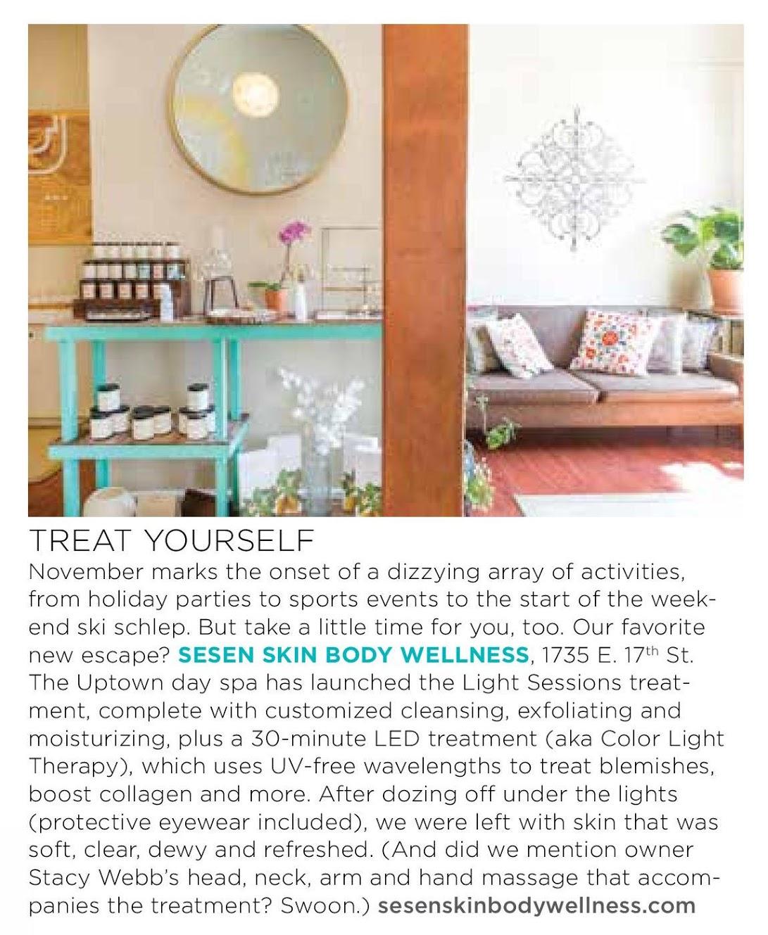 Denver Life Magazine Sesen Skin Body Wellness
